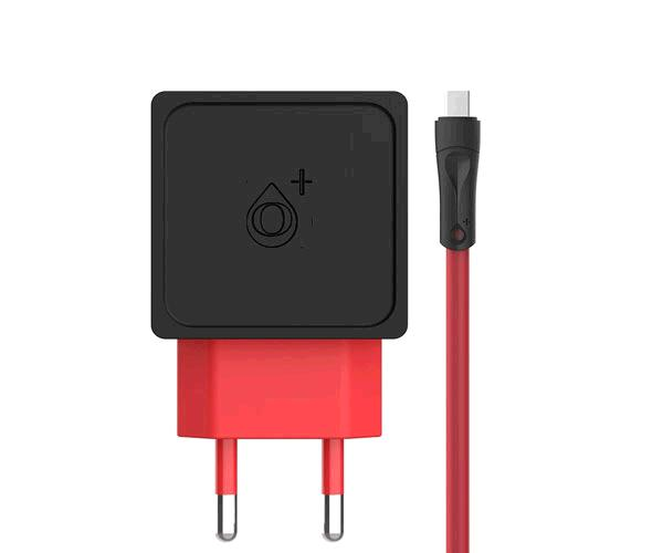 Cargador red A5538 2xUSB 2.4a + cable Micro USB - Negro One+