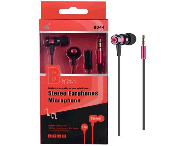 Auriculares con Microfono metal 8044 rojo ONE+