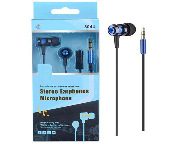 Auriculares con Microfono metal 8044 azul ONE+