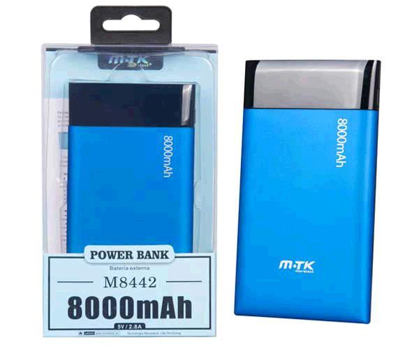POWER BANK AODO 8000 MAH AZUL  M8442 MTK