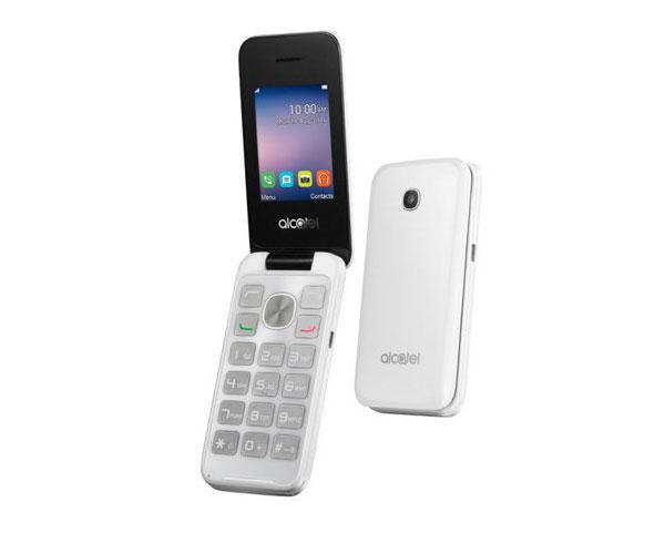 Telefono Movil Alcatel 2053d Pure White 2.4 pulg. - FM - Bluetooth
