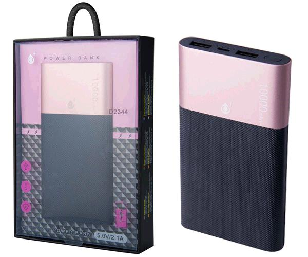 POWER BANK PUNK ROCK 2XUSB 10000 MAH INDICADOR LED 2.1A  D2344 ROSA ONE+