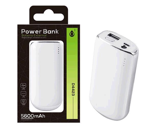 POWER BANK VIRGO D4423 5600MAH PLATA ONE+
