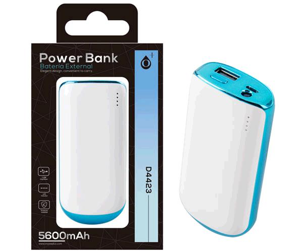 POWER BANK VIRGO D4423 5600MAH AZUL ONE+