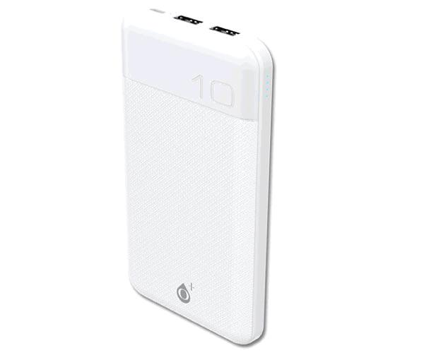 Power bank Rioli 12000 mah D6369 - 2XUSB - Indicador Led - 2.4a - Blanco - One+