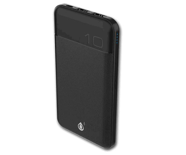 Power bank Rioli 12000 mah D6369 - 2XUSB - Indicador Led - 2.4a - Negro - One+