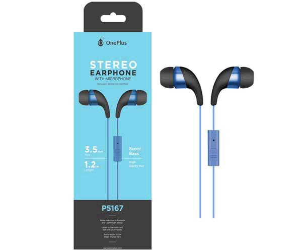AURICULARES + MICRO P5167 WINGS AZUL ONE+