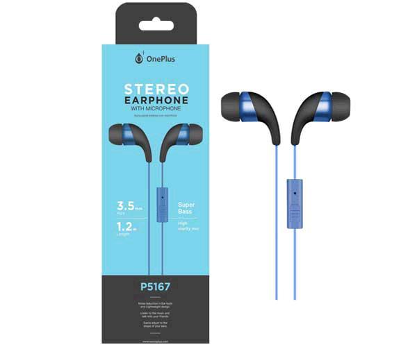 Auriculares + Micro Intrauditivos p5167 wings azul ONE+