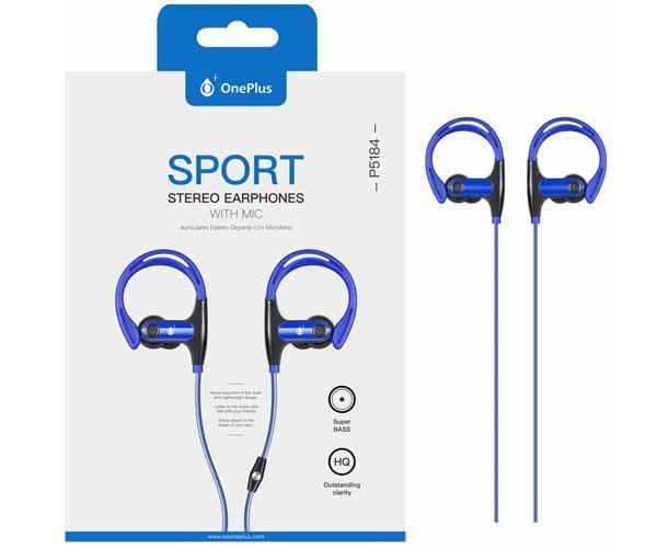 Auriculares + Micro Intrauditivos sport p5184 sunglasses azul ONE+