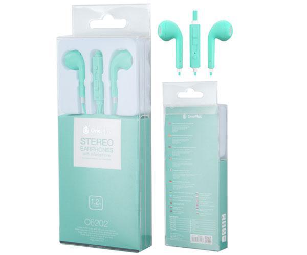 Auriculares con Microfono c6202 air verde ONE+