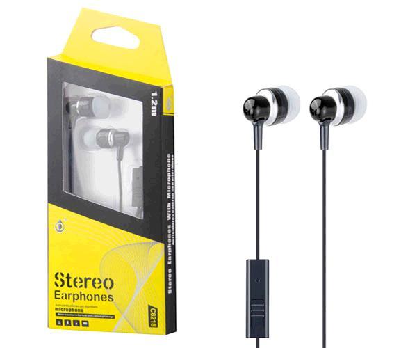 Auriculares con Microfono fever c6218 negro ONE+
