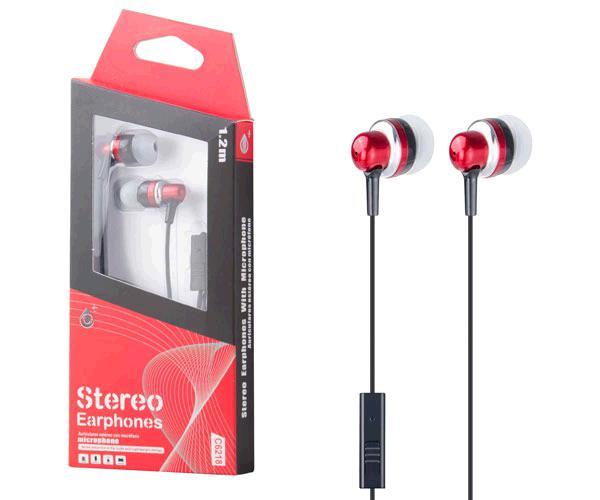 Auriculares con Microfono fever c6218 rojo ONE+
