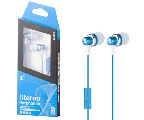 Auriculares con Microfono fever c6218 azul ONE+