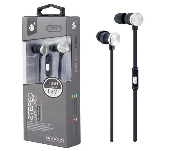 Auriculares + Microfono Intrauditivos machine c2949 plata ONE+