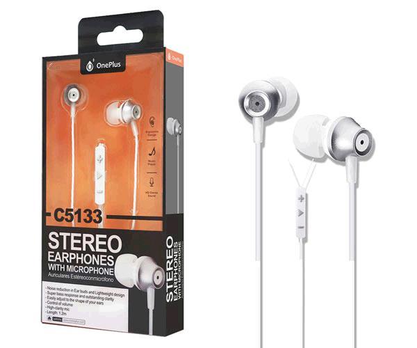 Auriculares + Microfono Edoor C5133 Plata ONE+