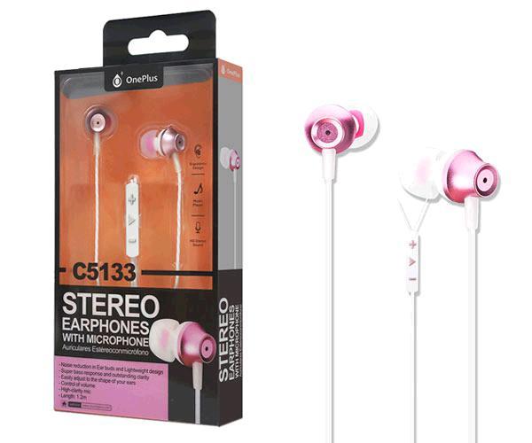 Auriculares + Microfono Edoor C5133 Rosa Oro ONE+