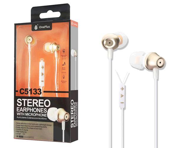 Auriculares + Microfono Edoor C5133 Oro ONE+