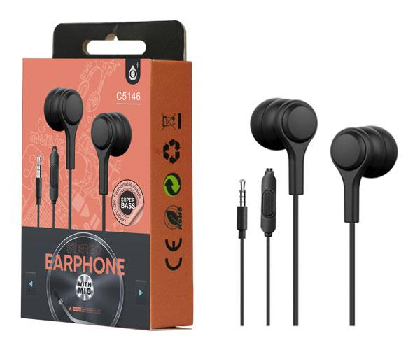 Auriculares + Microfono Intrauditivos lenoy c5146 negro ONE+