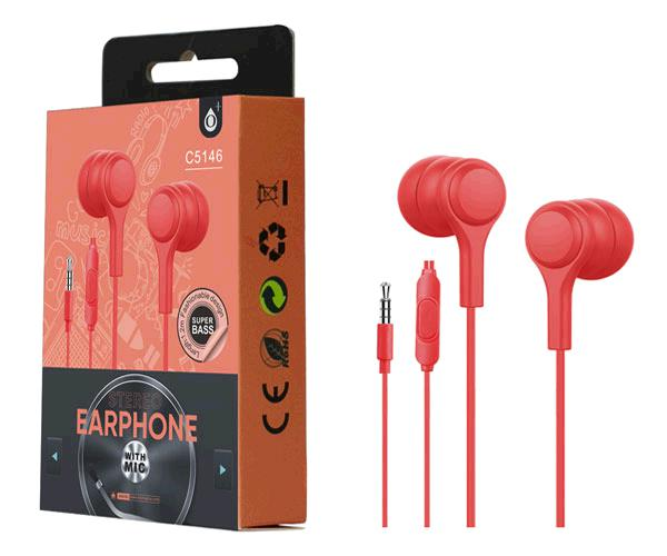 Auriculares + Microfono Intrauditivos lenoy c5146 rojo ONE+
