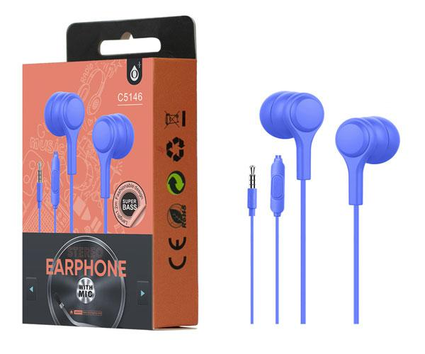 Auriculares + Microfono Intrauditivos lenoy c5146 azul ONE+