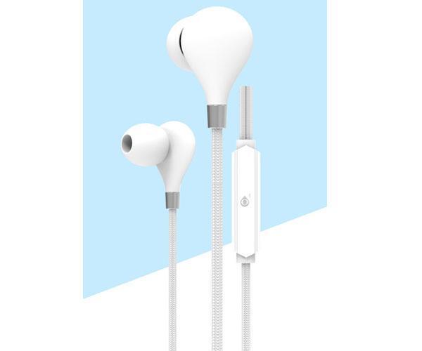 Auriculares con Micro intrauditivos C5855 Basic Carey - Boton control - 1.2m - Blanco - One+