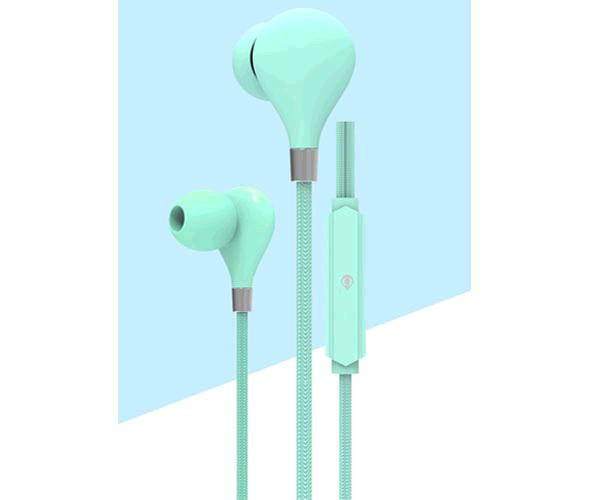 Auriculares con Micro intrauditivos C5855 Basic Carey - Boton control - 1.2m - Turquesa - One+