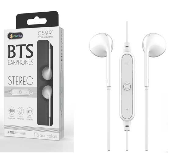 Auriculares Draco C5991 - Bluetooth 5.0 - Rellamada - Blanco - One+