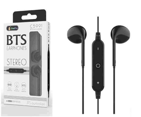Auriculares Draco C5991 - Bluetooth 5.0 - Rellamada - Negro - One+