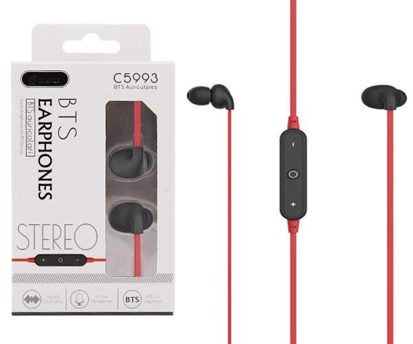 Auriculares Bronzor C5993 - Bluetooth 5.0 - Rellamada - Rojo - One+