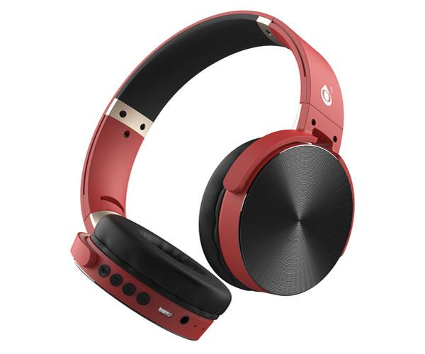 Auriculares Bluetooth Lepux C5996 mp3 - MicroSD - FM - Rojo - One+