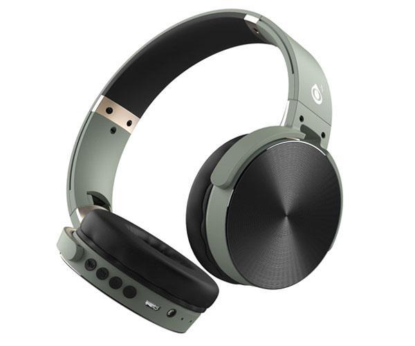 Auriculares Bluetooth Lepux C5996 mp3 - MicroSD - FM - Verde - One+