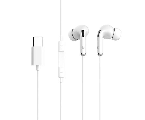 Auriculares + Micro Nc3155 - Conexion Type-C - 1.2m - Blanco - MTK