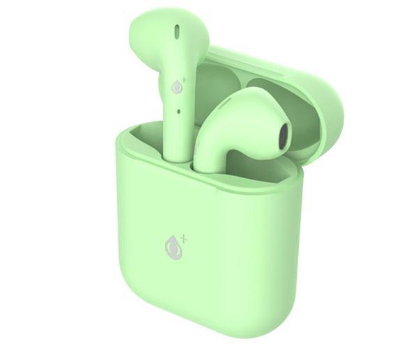 Auriculares estereo Bluetooth 5.0 Roulis Nc3161 - Verde - tws - Boton tactil - con base de carga - ONE+