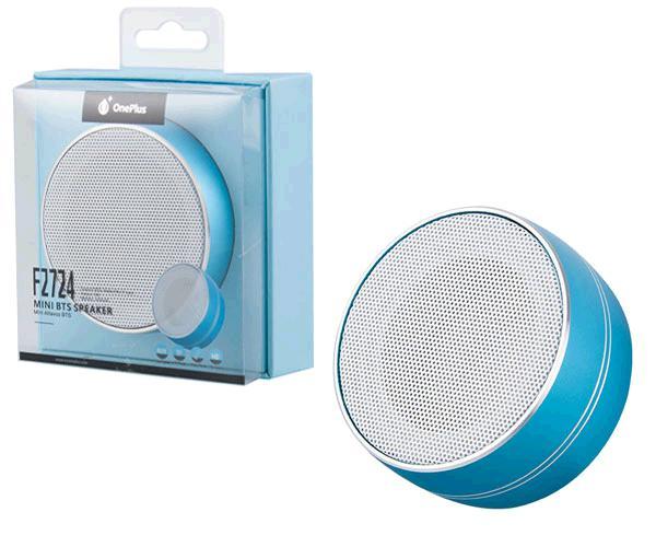Altavoz Mini Bluetooth f2724 mirror FM - MicroSD - aux - azul