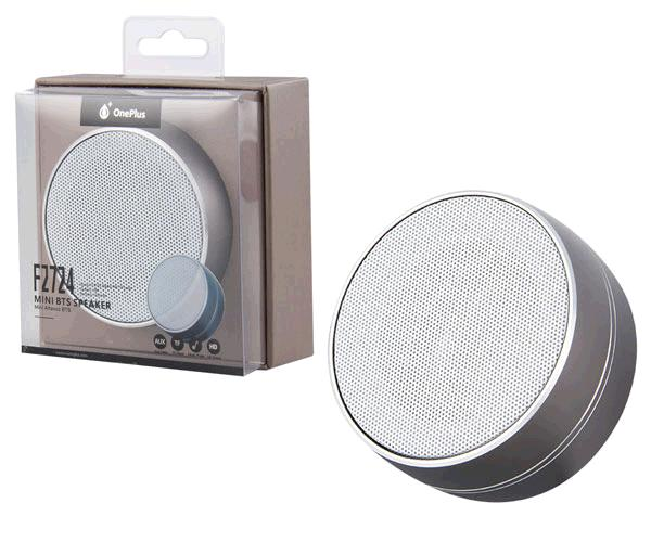 Altavoz Mini Bluetooth f2724 mirror FM - MicroSD - aux - gris