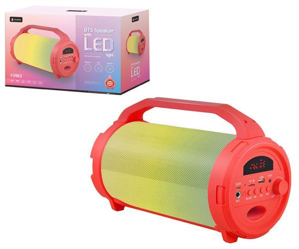 Altavoz tubo rainbow f2963 luz LED - Bluetooth - FM - USB - sd 10w rojo ONE+