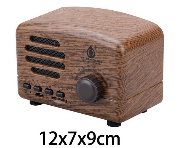 Mini altavoz Bluetooth toaster f4307 madera 5w - FM - MicroSD - ONE+