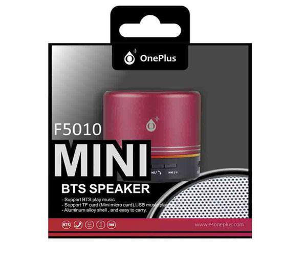 Mini altavoz Bluetooth mera f5010 USB - FM - MicroSD - rojo - ONE+