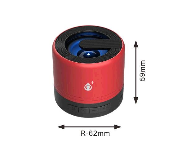 Mini altavoz Bluetooth Joltex F6164 - Luz Led - 3w - Tws - Fm - USB - Rojo - ONE+