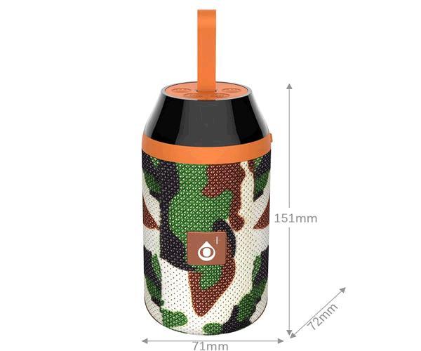 Altavoz Bluetooth 5.0 - Oditro F6483 - 3wx2 - FM - USB - Microsd - Verde militar -  One+