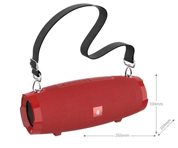 Altavoz Eora F6489 Bluetooth - FM - USB - Micro Sd - 5W - 1200mah - Rojo - ONE+