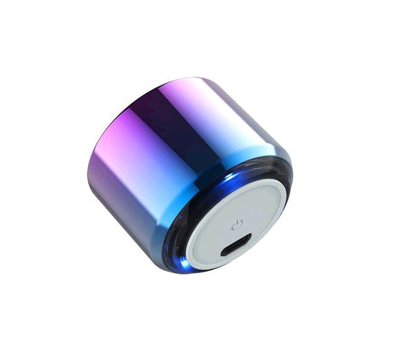Mini altavoz Metal Bluetooth Criso F6641- 4w - tws - Luz Led - Rojo - One+