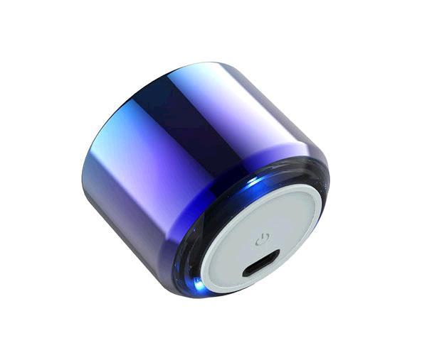 Mini altavoz Metal Bluetooth Criso F6641- 4w - tws - Luz Led - Azul - One+