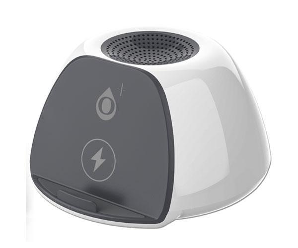 Altavoz Bluetooth con cargador Qi 5w EnergyStation NF4066 Gris-Blanco - BT 5.0 - MicroSd - 3w - 400mah - One+