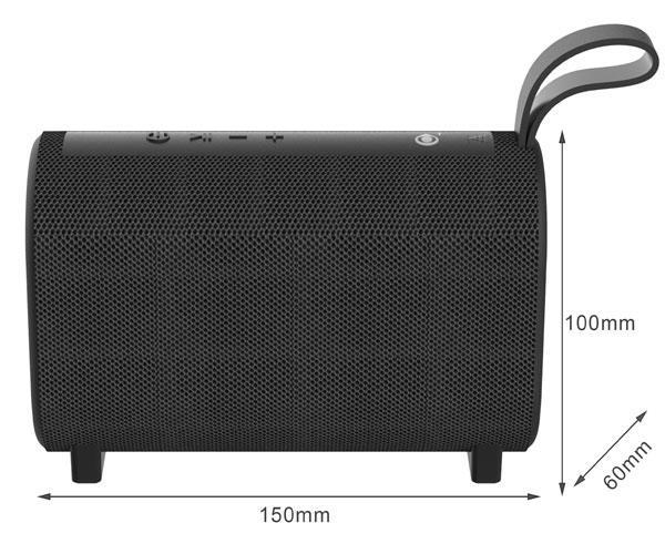Altavoz Bluetooth Horizon NF4067 Negro - BT 5.0 - USB - Aux in - MicroSd - Fm - 5w - 1200mah - One+