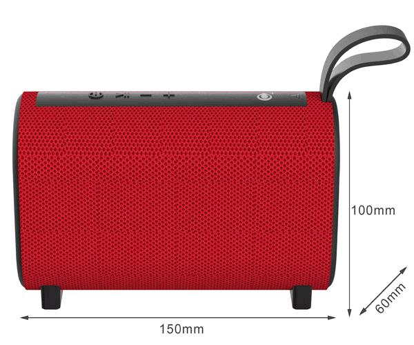Altavoz Bluetooth Horizon NF4067 Rojo - BT 5.0 - USB - Aux in - MicroSd - Fm - 5w - 1200mah - One+