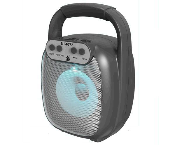 Altavoz Bluetooth 5.0 Baymax Nf4072 Negro - Luz Led - 6w - Tws - Fm - Microsd - Usb - One+
