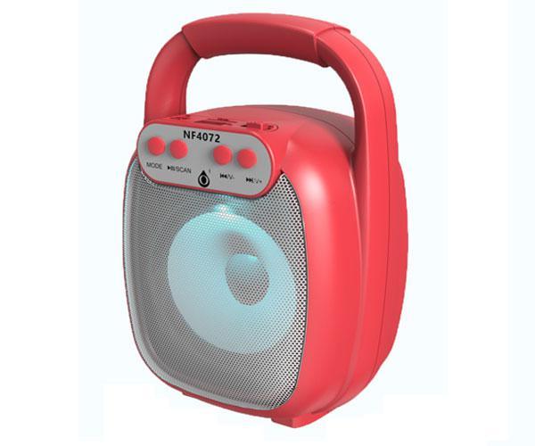 Altavoz Bluetooth 5.0 Baymax Nf4072 Rojo - Luz Led - 6w - Tws - Fm - Microsd - Usb - One+