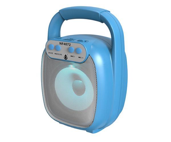 Altavoz Bluetooth 5.0 Baymax Nf4072 Azul - Luz Led - 6w - Tws - Fm - Microsd - Usb - One+