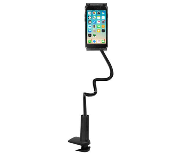 Soporte universal con cuello y pinza E5448 Smartphone - Tablet - 4.7 a 9 Pulg. - Negro - One+